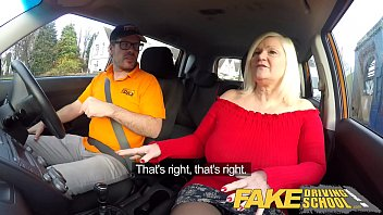 Menopause and sex drive - Fake driving school busty mature milf sucks and fucks lucky instructor