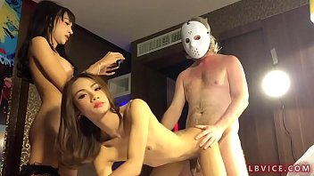 Threesome With Two Thai Shemales