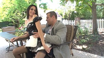 Maid mature brunette thumbs pictures Buff stud gets his huge cock sucked by stunning maid nikki daniels then fucks outside
