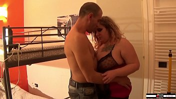 BBW blonde girl fucked by mature man