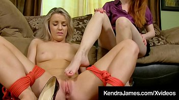 Big Titty Kendra James Ties Up Kate Kennedy & Gets Pussy!