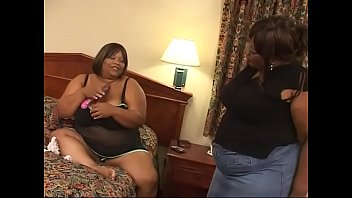 Black BBW bitches Chocolate Night and Choclick Ty go up to their hotel room for some toy fuck games