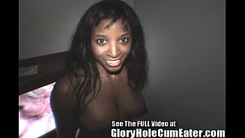 Ebony Cameron Sucks & Fucks White Cocks In Tampa Gloryhole