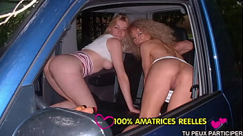 Horny mom and teen in car