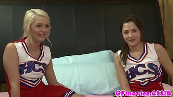 Lesbos cheerleaders Stunning les cheerleaders kissing