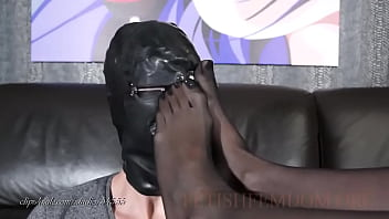 Sexy Black Nylons Foot Worship