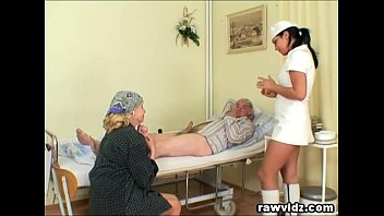 Sexy men in uniform Naughty hot nurse helps old patient to get laid