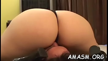 Romantic chick is drooling on her sextoy 5 min