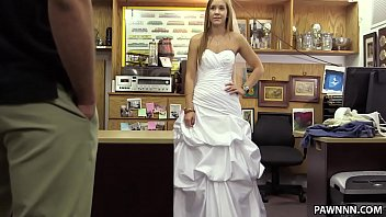 Wedding dress xxx - Sexy blonde pawns a wedding dress - xxx pawn