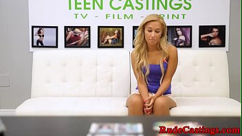 Facefucked teen gagged at casting audition