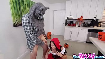 Red riding hood pussy - Kharlie stone pussy fuck upside down by big bad wolfie