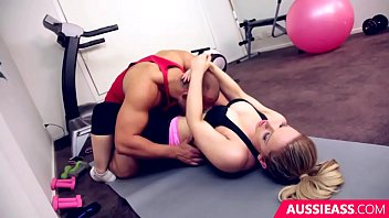 Cute blonde Madison has sex with her personal trainer at the gym