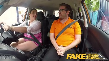 Fake Driving School Busty curvy learners horny blowjob and fucks to orgasm Image