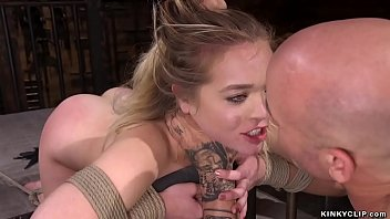 Captor rough fucks bound blonde
