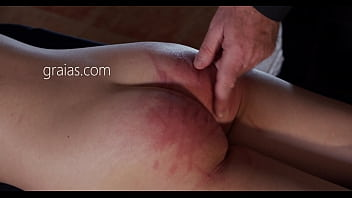 Sobbing Bitch Spanked With A Cane