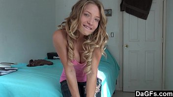Blonde teen home alone - Home alone, hot teen gets orgams on webcam