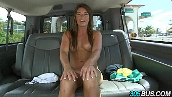 Athletic babe gets fucked in the ass on the 305bus 2.2