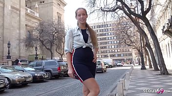 GERMAN SCOUT - SMALL TEEN FROM FINLAND SEDUCE TO MULTIPLE ORGASM SEX AT STREET CAST