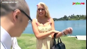 Hot blonde by 2 asian guys