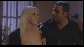 Mad as a meat axe blonde Hannah Harper is not able to softening an issue with her cheating boyfriend and his dumb freebie August Night and she decided to solve the problem in her way