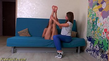 young flexi teen stretched like a doll 12 min