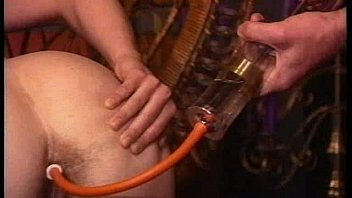 1h1f vintage syringe hairy  enema expulsion