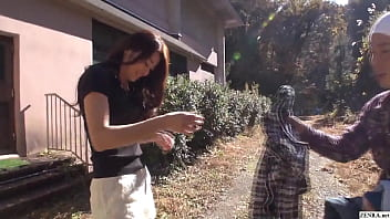 Japanese MILF of legendary status Maki Hojo embarrassingly strips totally naked outside for extremely rare public nudity featuring her walking around without a care in the world in HD