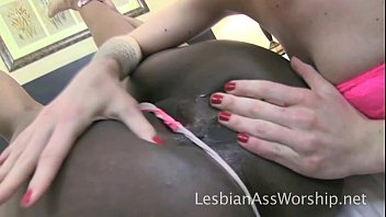 Maia Davis Devours Layton Benton's Booty Interracial Lesbian Ass Eating