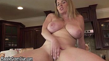 Nude green girl - Nude chef maggie green plays with her pussy on kitchen counter