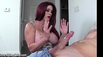 Handjobs mom Big boob mom milks step son