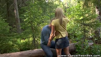 Casual Teen Sex - Hitchhiker fucked Yana in the woods