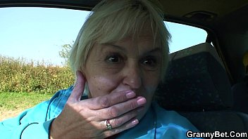 Over 80 grannies anal 80 years old bitch gets screwed in the car