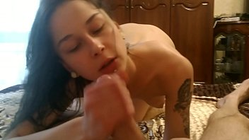 Blowjob in parents room after shower | Laruna Mave