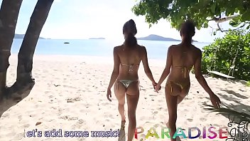 Curiously Cute And Petite Real Twin Sisters Stripping Nekkid On The Beach
