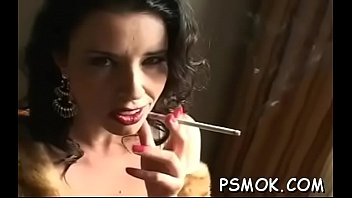 Women reading naked Inviting busty babe reading and smokin with her ally