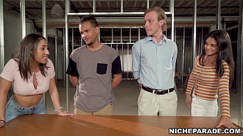 Niche Parade - Young, Competitive Pornstars Jocelyn Stone And Kira Perez Enter Competition To Find Out Who Can Make A Guy Cum Faster With Their Hands