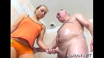 Wicked babe likes old men