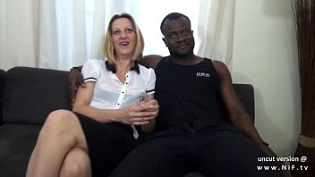Black and white female nude Casting couch french mature mom hard dp by white and black dicks