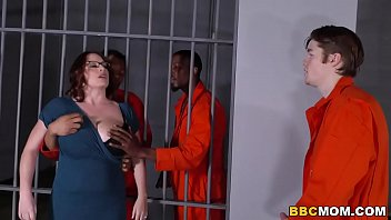 Kiss my ass prisoner law - Busty mom maggie green takes two bbcs in a jail