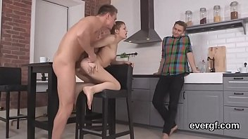 Broke dude lets horny buddy to shag his lover for hard cash