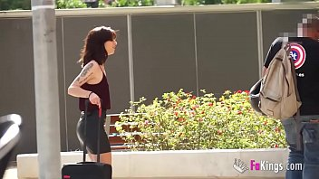 Italian teen Silvia hunts guys in the streets of Barcelona