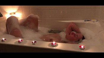 Teen Catherine Grey takes bubble bath