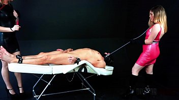 Pussy Aversion Therapy - Mistress Veronica Valentine and Mistress Sailor Luna are training their slave to only get a hard on for their assholes and punish him when he gets hard for their pussies