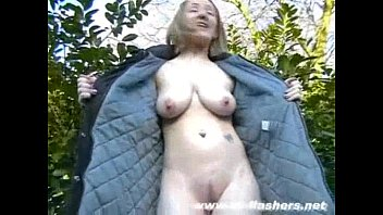 Sexy skinny mums public nudity and couragious downtown flashing of naughty nude