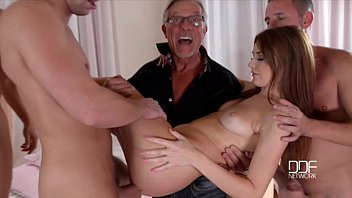 Petite Teen nympho Timea Bela gets a lesson in gang banging