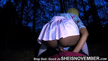 4k Don't Tell Mom We Fucked, Msnovember Riding Daddy Dick In Wilderness, Moving Thong To The Side Thick Ass Fauxcest Sex On Sheisnovember