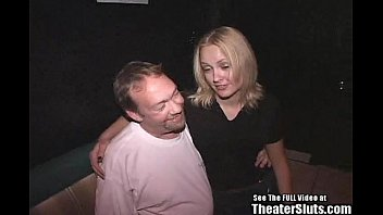 Dirty d theater sluts - Smiley blonde bitch gang fucked in porno theater
