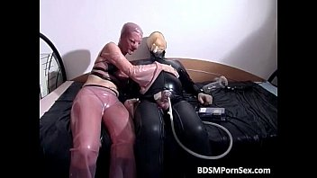 Horny latex chick fingered strippers in the hood porn