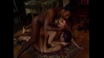 White beauty double fucked by black cock
