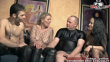German amateur swinger party with normal couples